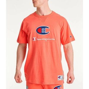 Champion Men's  Chenille Logo T-Shirt Size XL